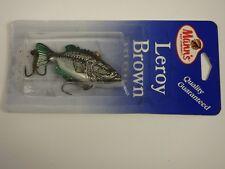 Manns Leroy Brown NIP Bass Fishing Lure Manns 1/4 oz Silver Baby Bass
