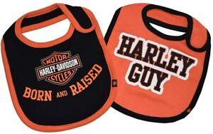 7059507 BORN AND RAISED/HARLEY GUY BIBS