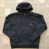 Coleman Mens Full Zip Fleece Lined Hoodie Sweatshirt Work Jacket Black XXXL 3XL