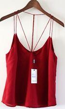 NWT BARDOT Womens Size 8 XS Dark Red Strappy Sleeveless Summer Cami Tank Top