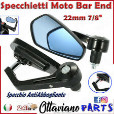 Coppia Universale Moto Manubrio Specchietto Retrovisore Bar End 7/8'' 22mm M65