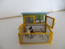 Schleich Kaninchenstall/Hasenstall mit Außengehege, Sonderedition, ohne Hasen