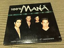 MANA - RADIO SAMPLER 100% MANA CD SINGLE SPAIN PROMO DIGIPACK LATIN ROCK