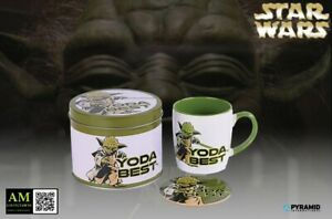 Star Wars - Yoda Best - Gift Box Cup With Coasters - New / Orig. Packaging