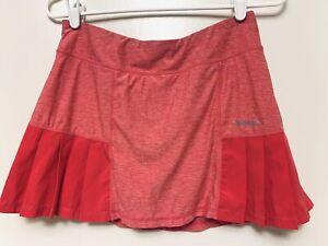 Head Women's M Medium Pink Side Pleats Athletic Tennis Skirt Skort Undershorts
