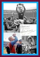 WEST HAM UNITED FC 1964 FA CUP FINAL BOBBY MOORE SIGNED (PRINTED) EXCLUSIVE A4