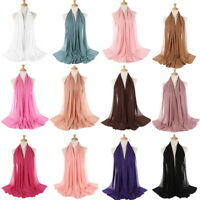 Women Ladies Fashion Cotton Long Scarf Muslim Hijab Arab Wrap Shawl Headwear #@