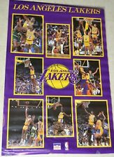 Vtg 1988 Los Angeles Lakers Starline Collage Poster Magic Kareem NEW & SEALED!