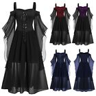 Halloween Costumes Womens Plus Size Cold Shoulder Butterfly Sleeve Lace Dress
