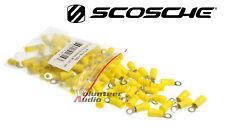 Scosche Vinyl Ring Terminal Yellow #8 12-10 Gauge 100 Pieces/bag