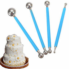 4Pcs Fondant Cake Flower Stainless Steel Ball Modelling Decor Sugarcraft Tools