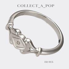 Authentic Kameleon Ice Silver Diamond Shape Decorative Shank Ring Size 8  IR015
