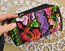 Chinese cute tribal miao machine embroidered Colorful hand bag Purse