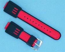 LOT OF 2 SETS- 16mm Leather Nylon Black/Red Band (BR-16) Fits G-Shock DW5600E