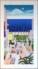 """Thomas McKnight """"Miami Beach"""" Hand Signed serigraph on paper Make an Offer!"""