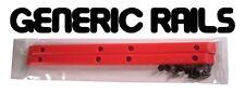 NOS Generic SIDE RAILS Skateboard Gorilla Rib Bone Style Grab Rails RED