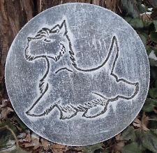 Scottie dog mold  plastic plaque mold concrete plaster animal mould