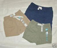 Infant/Toddler Boys Shorts Olive Green  Beige  Blue Sizes 6-9M  9-12M 18-24M NWT