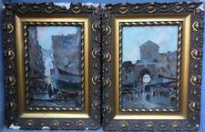 Gorgeous, Oscar Ricciardi (1864-1935) Italian painter - Pair of oils on canvas