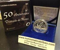 10 EUROS 2007 50 ANIVERSARIO DEL TRATADO DE ROMA PLATA ESTUCHE FNMT España PROOF