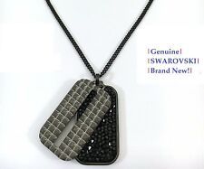 02dd8d1bc9 Swarovski Men's BORDER Jet Black Crystal Pendant Necklace 5070470 New w Gift  Box