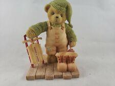 Cherished Teddies 107073 2003 Figurine Herbert Radio Flyer