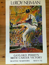 """LeRoy Neiman Lithograph """"Gaylord Perry 300th Career Victory"""" Made in 1982"""