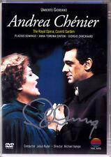 DVD Placido DOMINGO Signed GIORDANO ANDREA CHENIER TOMOWA-SINTOW RUDEL Autograph