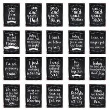 Schwangerschaft Milestone Karten Lustig Tafel Stil Pack 40 Freund Schwester Gift