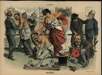 Criminals Branded Corrupt Officials Opinion 1886 antique color lithograph print