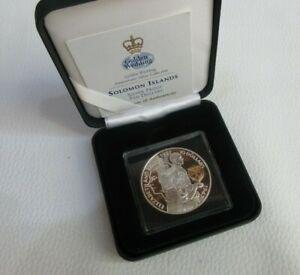 UK 1997 $10 ROYAL MINT QEII & PRINCE PHILIP GOLDEN WEDDING SILVER PROOF BOX  COA