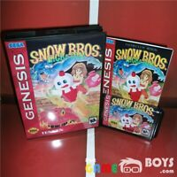 Snow Bros Game Cartridge SEGA Genesis Complete Boxed Manual USA Version NTSC-U/C