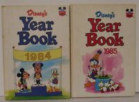 VINTAGE LOT OF 2 DISNEY'S YEAR BOOK 1984 &1985 Mickey & Minnie Mouse Donald Duck