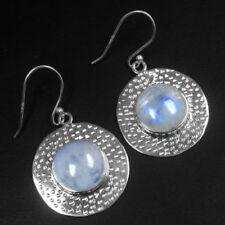 Pendientes de joyería naturales de plata de ley de piedra de luna