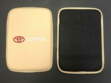 TOYOTA Carbon Fiber Car Center Console BEIGE Armrest Cushion Mat Pad Cover