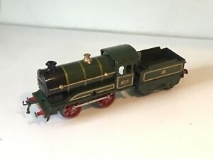 Hornby O gauge GWR No 0 loco and tender - Early