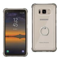 Samsung Galaxy S8 Active Case Bumper Cover Air Cushion Protect Ring Holder Black
