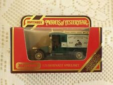 Matchbox Model Of Yesteryear Renault 1910 Ambulance LTD Edition