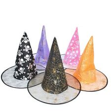 Halloween Costumes Magic Hat Show Witch Yarn Hat Bronzing Witch Wizard Cap WT