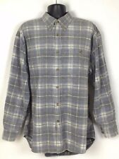 Orvis Men's Gray Plaid Button Up Barn Jacket Heavy Cotton Shirt Size XXL