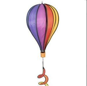 Windspiel Heißluftballon RAINBOW TWIST wetterfest Garten Deko Balloon Ø28cm c