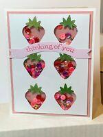 handmade Shaker Card Kit Spring Strawberries Stampin' Up! 🍓