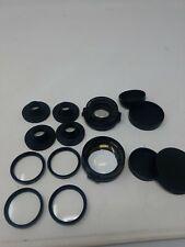 LOT of Tiffen 37mm Filter / lenses telephoto converter wide angle converter (i)