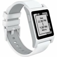 Pebble 2 + Heart Rate Activity Fitness Tracker Smart Watch - White/White