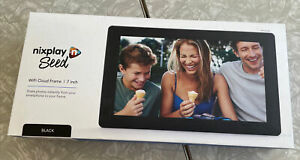 Nixplay Seed Wifi Cloud Frame 7 inch Black - SHARE PHOTOS FROM ANY PHONE!