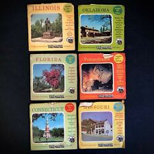 Vintage Viewmaster Lot Of 6 American Scenic United States Original Sawyers