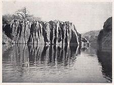D2419 Bacino di allargamento della Gola del Setit - Stampa - 1925 vintage print