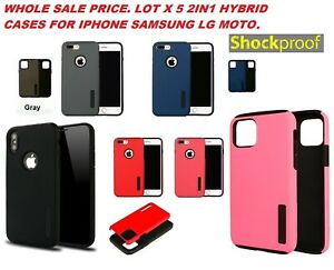 lot 5 Armor ULTRA hybrid Protector Case Cover LG SAMSUNG A32 iphone 12 MOTO 5G