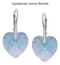 Sterling Silber Ohrringe gemacht mit 6228 Herz 14mm Swarovski® Kristalle