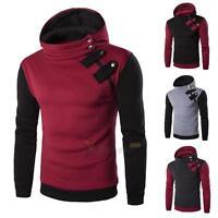 Men's Winter Slim Hoodie Sweatshirt Warm Hooded Coat Jacket Outwear Sweater Tops